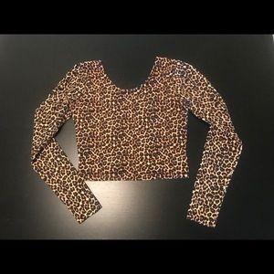 American Apparel Cheetah Crop Top